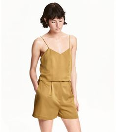 H&M Silk Camisole Top and Shorts