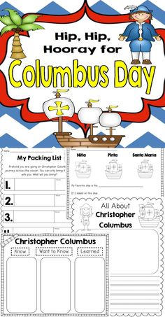 FUN Columbus day reading, writing, centers, activities!