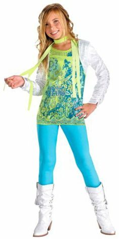 Hannah Montana Costume with Shrug - Child Medium . $32.99. .x{color:#83C22D;margin:0px;font-size:12px}.y{color:#A56EBA}HANNAH MONTANA COSTUME WITH SHRUGDisney Costumes(Item #MONT07-C7)Size: Child Size 7-8In stock, ready to ship!Includesshirt shrug scarf leggings This is a BRAND NEW Costume in its original packaging. It is an officially licensed product (we only sell the 'real deal', no imitations). Hannah Montana Costume - Wanna be a Disney popstar? You'll be needing this tre...