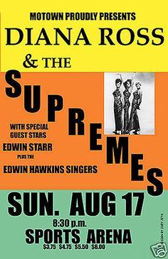 A Supremes concert poster