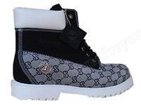 Timberland Mens Custom Boots Black White