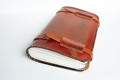 Extra Large Vintage Leather Travel Journal / by greentrikepress, $175.00