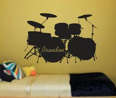 Whats Included:  wall decal.22 x 32 Email if you need a different size..   1- Choose the color for the drums  (The picture above is for reference only