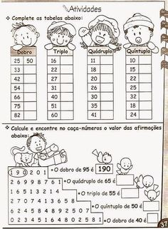 Math For Kids, Diy For Kids, Worksheets, Primary School, Back To School, Homeschool, Sight Word Activities, Learning Activities For Kids, Teaching Math