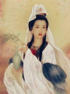 Buddha Canvas, Buddha Art, Vajrayana Buddhism, Chinese Embroidery, Religious Images, Taoism, Guanyin, Thing 1, Ancient Art
