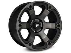 Fuel Wheels Wrangler Dark Tint Machined 6 Spoke Wheel D56418907345 (07-16 Wrangler JK) - Free Shipping