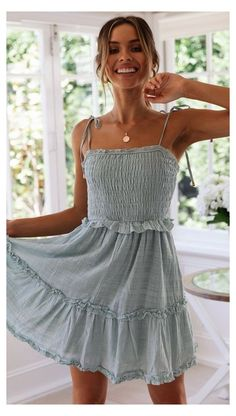 Casual Summer Dresses, Cute Summer Outfits, Summer Dresses For Women, Cute Casual Outfits, Simple Dresses, Cute Dresses, Maxi Dresses, Winter Outfits, Summer Fashions
