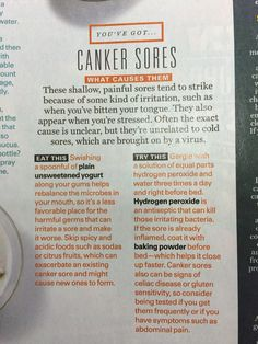 Natural Remedies - Canker Sore - source All You Magazine