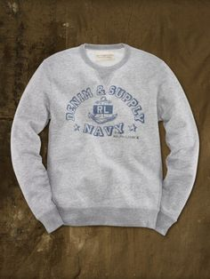 French Terry Anchor Sweatshirt Ralph Lauren $85