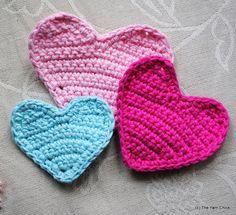 PDF Crochet Pattern Heart Applique by TheYarnChick on Etsy