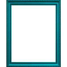 Aqua/Cyan Frame ❤ liked on Polyvore featuring frames, borders, backgrounds, picture frames and art