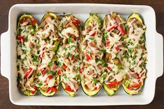 Philly Cheese Steak Zucchini Boats - Cooking Classy