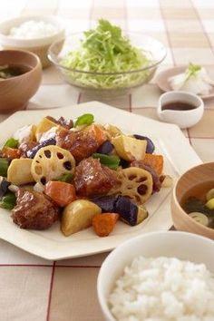 Ootoya's Sweet & Sour Chicken 鶏と野菜の黒酢あん