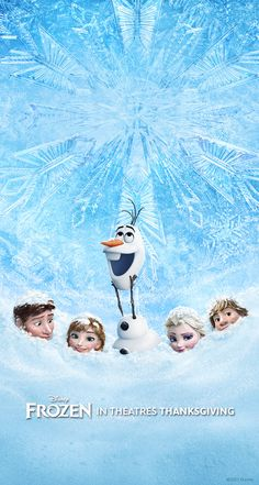 Frozen~Olaf,Anna,Elsa,Hans and Kristoff. I LOVE this pic! They all look soooo adorable in the snow. EXCEPT HANS