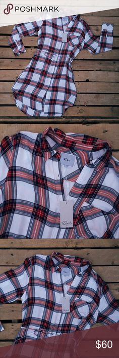 RAILS STITCH FIX PLAID t-shirt DRESS SIZE L New with tags Size L This is from a Stitch Fix Collection Bundle and save I'll send a private offer after you bundle. Rails Dresses Mini