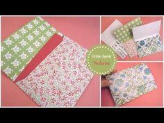 How to make envelopes (very easy and cute) -Cómo hacer sobres. (Muy fácil) Tutorial de scrapbooking y manualidades