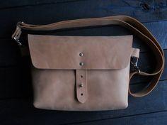 Leather hip bag Leather handbag Belt bag Small leather bag