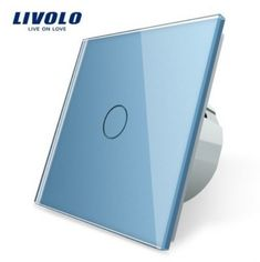 Livolo EU Standard Switch Wall Touch Switch Luxury White Crystal Glass, 1 Gang 1 Way Switch, AC Brand Store, Glass Panels, Kids Fashion, Touch, Lights, Crystals, Wall, Stuff To Buy, Self
