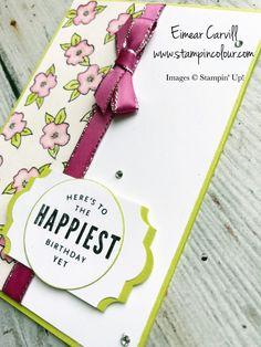 Eimear Carvill www.stampincolour.com Lots of Happy Card Kit Alternative Projects from the Spring Summer 2018 catalogue sneak peek on the Stampin Creative Blog Hop, #cardmaking #papercrafting #lotsofhappycardkit