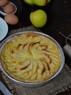 Cuuking! Recetas de cocina: Tarta de manzana con crema para el #Asalatablogs