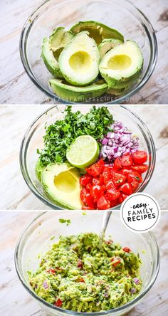 This stuff is DELICIOUS! This guacamole recipe tastes just like the tableside guacamole they make at Mexican Restaurants. Guacamole Recipe Easy, Fresh Guacamole, Holy Guacamole, Avocado Recipes, Best Party Appetizers, Best Appetizer Recipes, Mexican Food Recipes, Dinner Recipes, Eating Clean