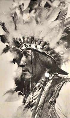 circa 1935 John Grounds wearing war bonnet, necklaces, and fur vest. Native American Warrior, Native American Beauty, American Spirit, Native American Tribes, Native American History, Native Americans, African Americans, Native American Pictures, Native American Artwork