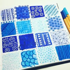 More mark making for #mats enjoying blue!  #makeartthatsells @makeartthatsells #matshomedecor #homedecor #markmaking #blue #painting #gouache #watercolour #pen #doodles #adoodleaday #illustration #katyhalfordillustration by katyhalfordillustration