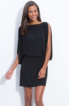 Jessica Simpson Slit Sleeve Blouson Jersey Dress