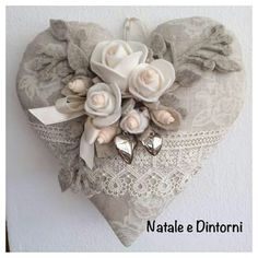 Cute Valentine Ideas, My Funny Valentine, Valentine Heart, Valentine Crafts, Diy Holiday Gifts, Easy Christmas Crafts, Diy Christmas Ornaments, Handmade Christmas, Shabby Chic Hearts