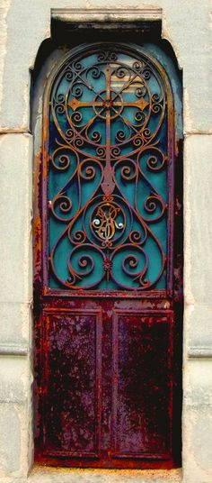 Door with Rusted Iron Work