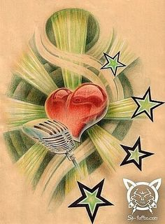 Heart of Bull Tattoo Design Bull Tattoos, Heart Tattoo Designs, Rock, Stars, David, Heart Tat, Taurus Tattoos, Taurus Bull Tattoos, Locks