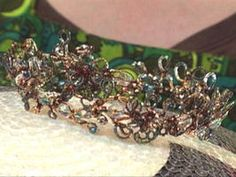 Beaded Tiara and Earrings Set : Decorating : Home & Garden Television