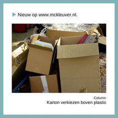 Wist jij dat er zonnebrillen worden gemaakt van plastic uit de oceaan? Dit is waarom we karton moeten verkiezen als verpakking dan plastic. 🎁 De hele column staat online op www.mckleuver.nl.