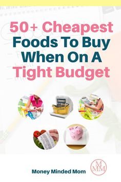 When money is tight we need to find ways to cut back on our budgets, and one of the easiest expenses to save money on is your grocery budget. There are many ways to save on food such as meal planning, couponing, buying in bulk, shopping sales, using grocery apps and much more but if you can put these strategies in place while buying the cheapest foods, you'll be able to stretch your grocery budget even further and get lower your grocery bill. Plus I share some recipes and meal ideas too! Groceries Budget, Free Groceries, Save Money On Groceries, Frugal Meals, Budget Meals, Cheap Grocery List, Cheap Meat, Save On Foods, Budget Meal Planning