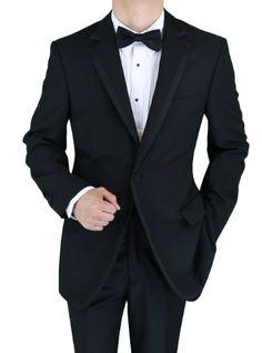 Bianco B Men's Black Two Button Notch Lapel Side-Vent Tuxedo (38 Short) Bianco B http://www.amazon.com/dp/B00B6XG9YG/ref=cm_sw_r_pi_dp_MgADub1S55M6Y