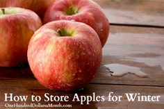 How to Store Apples for Winter #apples #fruit #frugality #savingoney