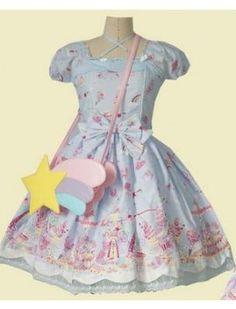 (Replica)Dream of Lolita Milky Planet One Piece Dress