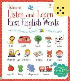 """Listen and learn first English words"" at Usborne Children s Books 295d09892d2ae"