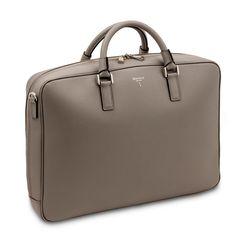 Single briefcase 5939 – moon gray evolution calf