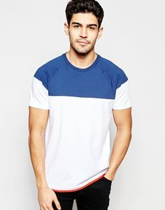 Franklin and Marshall T-Shirt with Colour Block