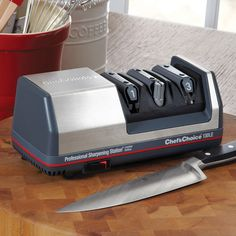 Chef'sChoice Limited Edition Professional Sharpening Station, #132 The world-renowned Diamond Hone, 3-step electric kitchen knife sharpener used by professional chefs. $179.95