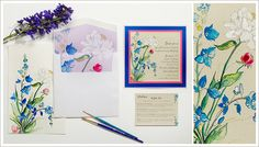 Painted Bouquets | Momental Designs – Unique Handmade Wedding Invitations, Custom Invitations by Artist, Kristy Rice