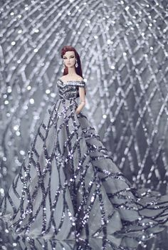 https://flic.kr/p/LGLcbd | Eugenia - outfit by Rimdoll | www.etsy.com/listing/462485204/silver-prom-dress-for-fash...