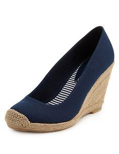 Mark and Spenser High Heel Wedge Espadrilles with Insolia® Clothing