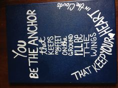 Painted canvas for Rachel's house at UF.