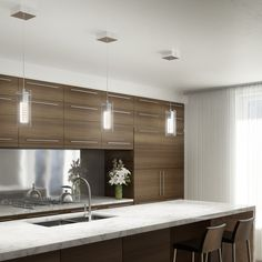 The Hologram 4 is an elegant and original LED luminaire that's sure to enhance the contemporary look of your home. It's especially perfect for a dining room. Modern Industrial Decor, Kitchen Pendant Lighting, Living Environment, Modern Lighting, Lighting Ideas, Contemporary Decor, Home Kitchens, Table, House