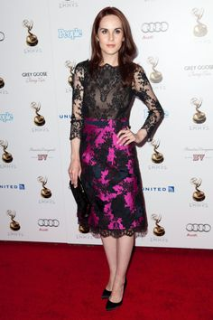 Michelle Dockery In Erdem at the Academy of Television Arts & Sciences Performer Nominees' 64th Primetime Emmy Awards Reception.