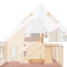 ROA - Rural Office for Architecture Architecture Graphics, Architecture Drawings, Architecture Details, Interior Rendering, Interior Exterior, Beaverbrooks, Architectural Section, Architecture Visualization, Photomontage