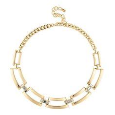 Principles by Ben de Lisi Designer polished gold crystal link necklace | Debenhams