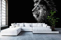Home Decor Hooks, 3d Wall Decor, 3d Foto, 3d Wallpaper For Walls, Photo Mural, Lion Art, Modern Bedroom Furniture, Background Vintage, House Styles